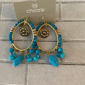 Chico's Turquoise Earrings New